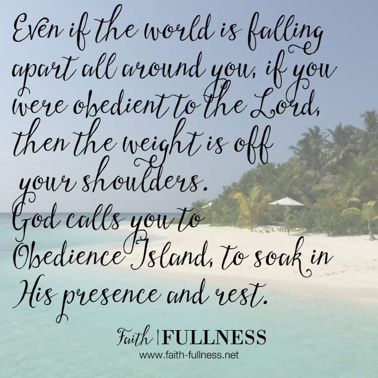 Often times when we are obedient to the Lord, we end up feeling isolated and all alone - on an island. But this season of solitude is meant to be a blessing, not a curse, God wants you to rest in His presence and draw near to Him. | Faith-fullness.net
