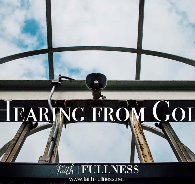 Hearing from God: How do you hear God?