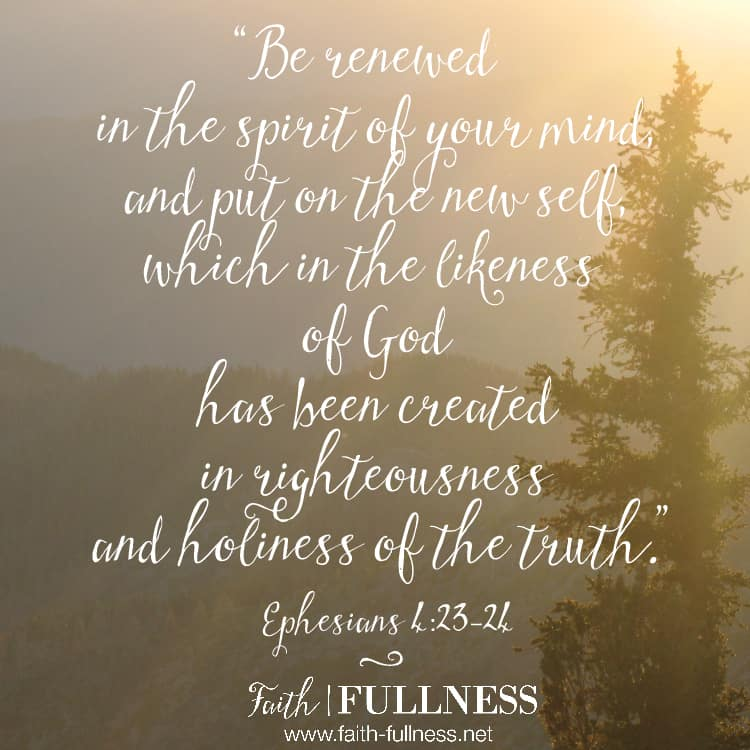 "God created you for love - to feel loved, to know love, to walk in love. We need to put off the lies of the enemy and ""be transformed by the renewing of our minds."" 