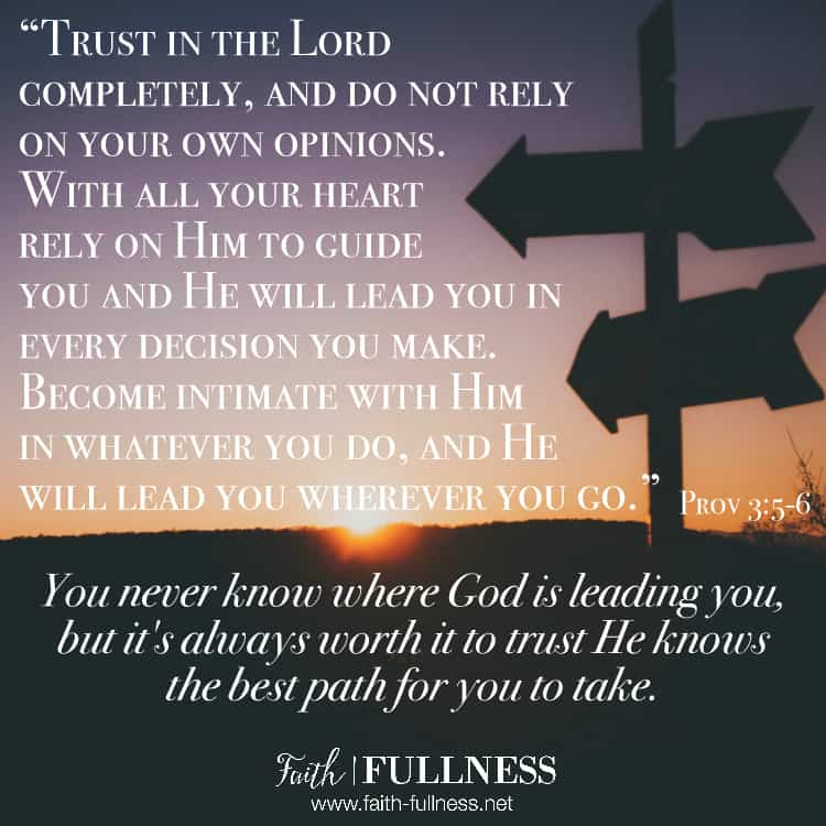 It's never worth it to listen to the voice of fear because with God the possibilities are endless and you never know where He'll take you when you choose a life of trusting Him. We must learn to trust that He knows the best path for us to take. | Faith-Fullness.net