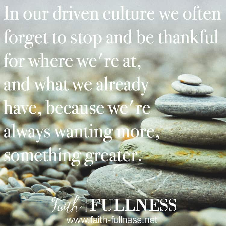 We often forget to stop and be thankful for what we already have. Instead of always wanting more, let's try to live a life of contentment and gratitude for what God has already done. | Faith-Fullness.net