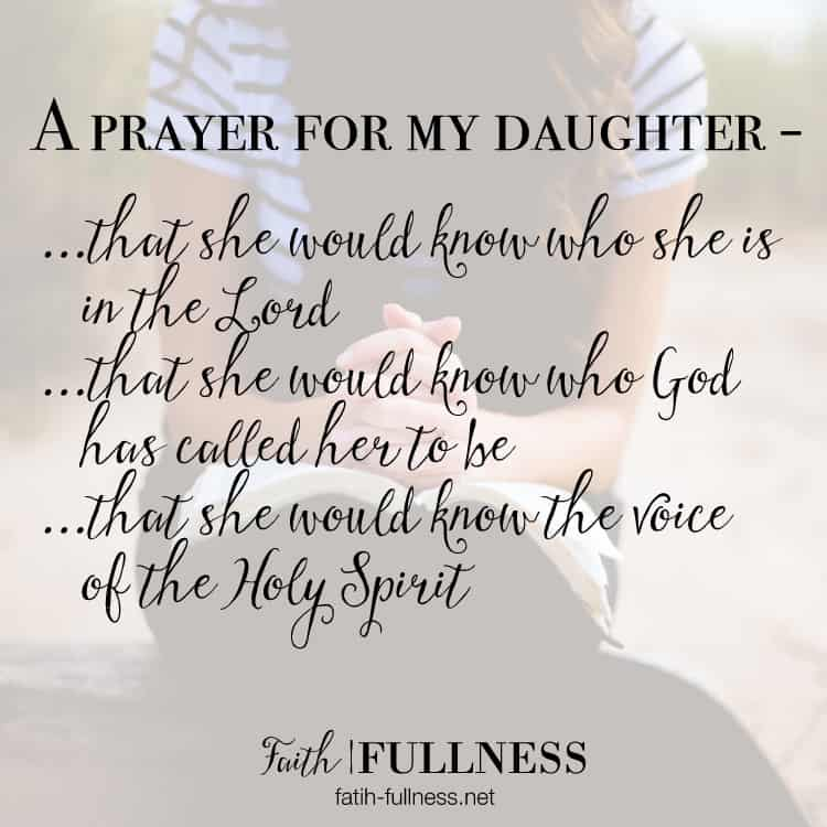 I'm sharing my daily prayer for my daughter. I believe if we pray identity over our kids from a young age they will grow up to be confident & strong in the Lord | Faith-Fullness.net